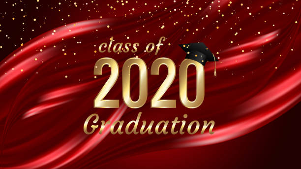 Class of 2020 graduation text design for cards, invitations or banner Class of 2020 graduation text design for cards, invitations or banner college dean stock illustrations