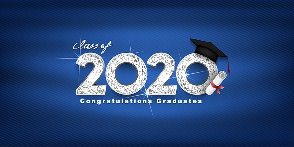 Class of 2020 Vector text for graduation silver design, congratulation event, T-shirt, party, high school or college graduate. lettering for greeting, invitation card