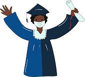 istock Class of 2021 boy graduation. 1318626535