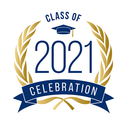 Class of 2021 Congratulations Graduate Typography.