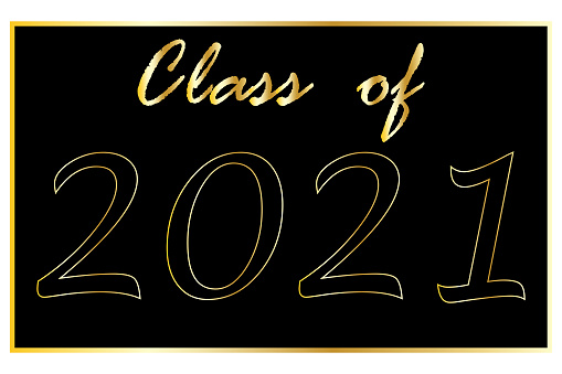 Class off 2021. Greeting card template class off. Vector logo illustration. Stock image. EPS10.