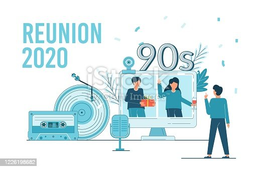 istock Class Reunion 2020. Online party for students alumni meeting. 1226198682