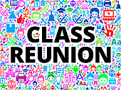Class Reunion School and Education Vector Icon BackgroundWyoming Schools School and Education Vector Icon Background. The main object of this royalty free illustration is the key word surrounded by school and education vector icon pattern. The icons vary in size and color and are very vivid. This illustration is conceptual and is perfect for school and education industries. Each icon can be used independently from the background set.