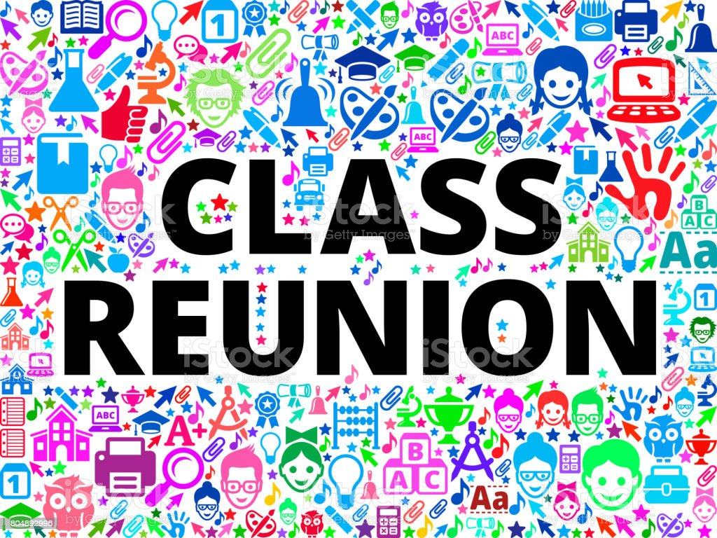 Class Reunion School and Education Vector Icon Background vector art illustration