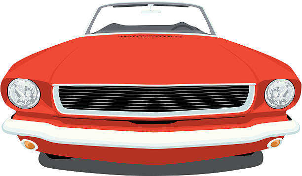 Classic 1965 Mustang vector art illustration