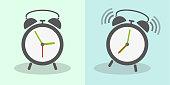 classic alarm clock vector illustration
