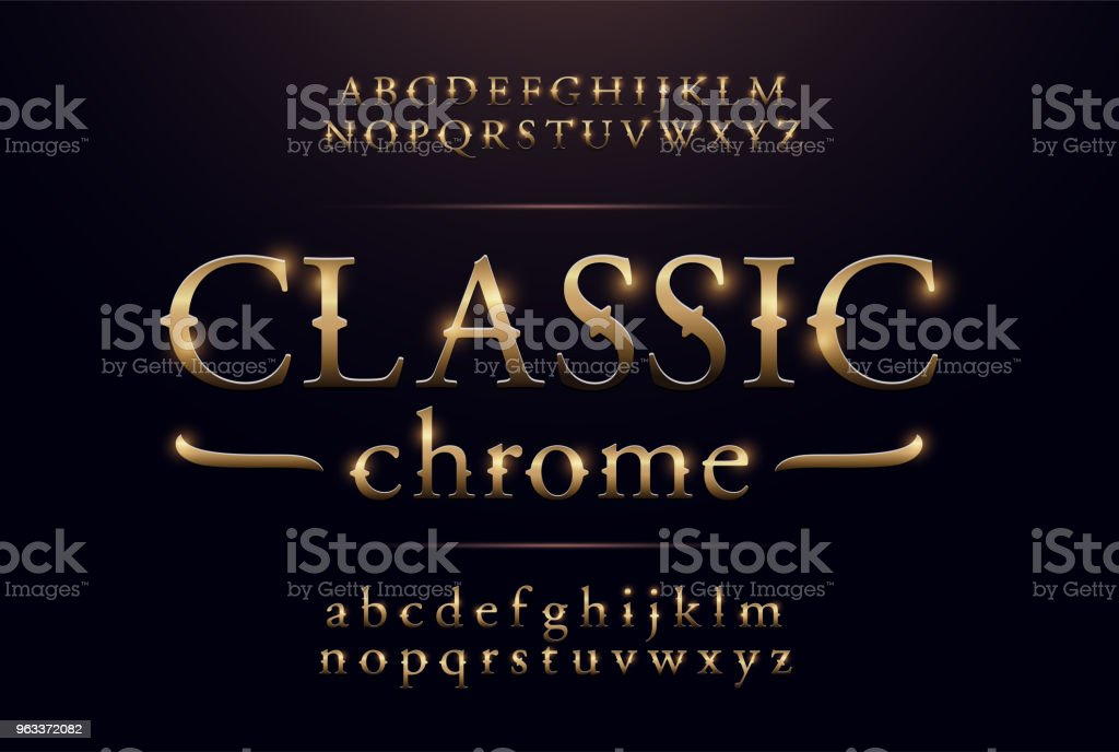 Classic Alphabet Gold Metallic And Effect Designs Exclusive