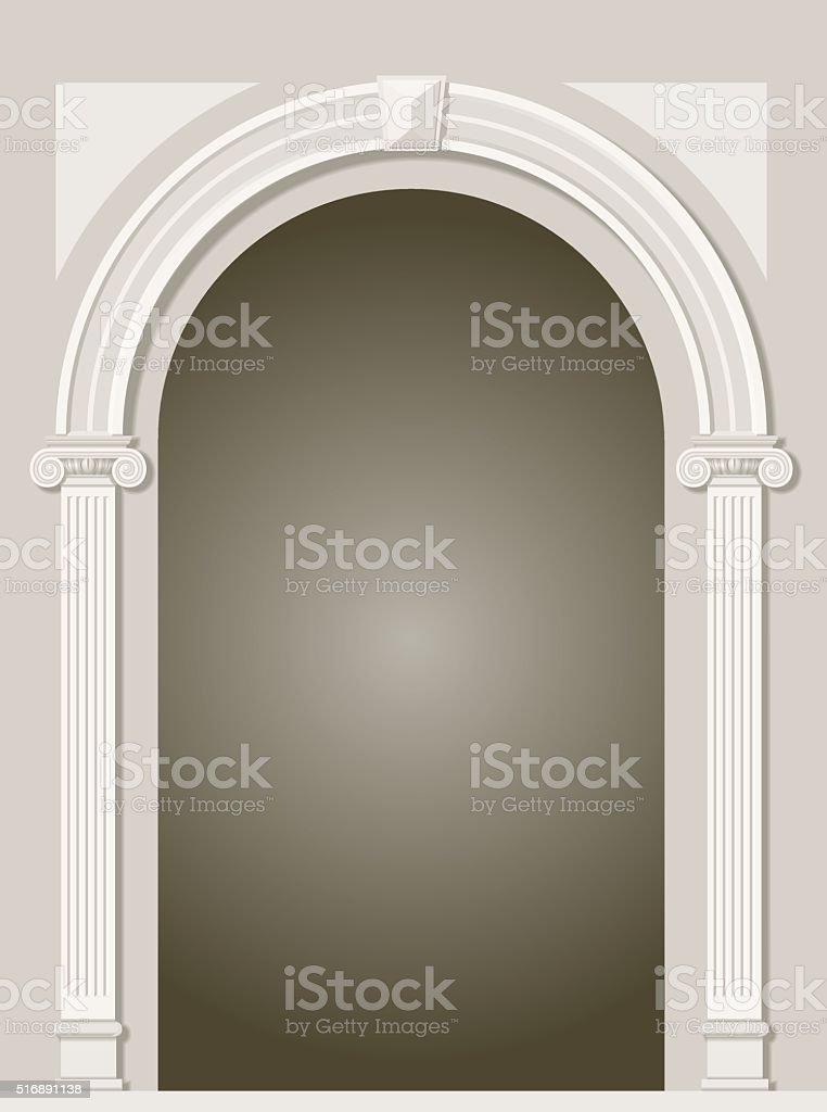 Arco de antigüedades clásicas - ilustración de arte vectorial
