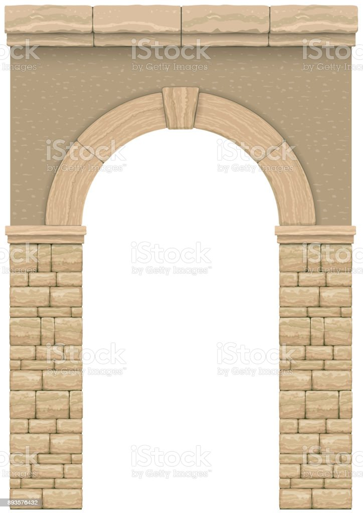 Classic antique arch vector art illustration