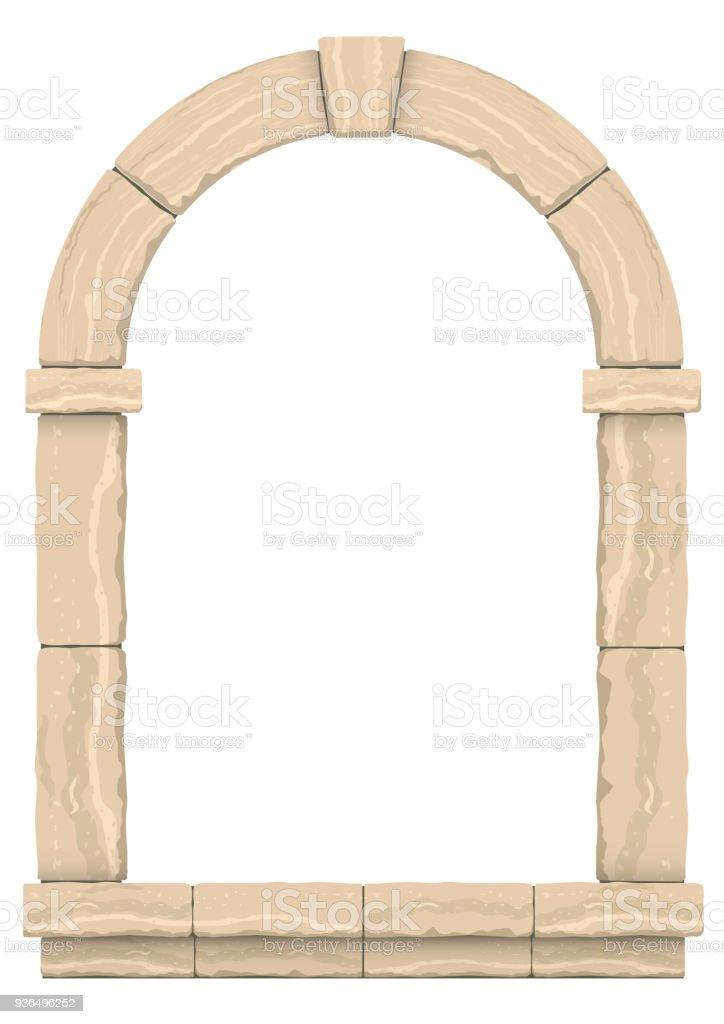 Classic antique arch vector art illustration