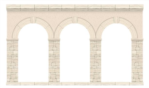 stockillustraties, clipart, cartoons en iconen met klassieke antieke boog - boog architectonisch element