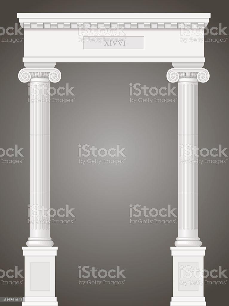 Portal clásico antiguo - ilustración de arte vectorial