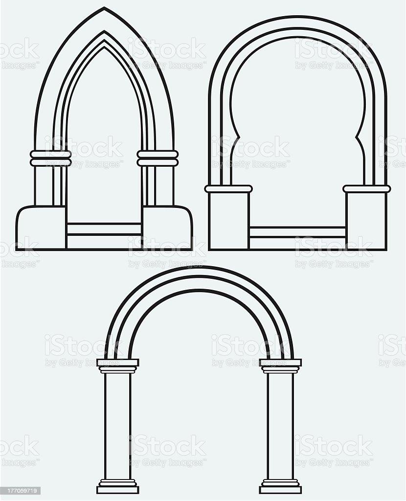 Classic arch vector art illustration