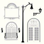 Classic Architecture Vector Silhouette