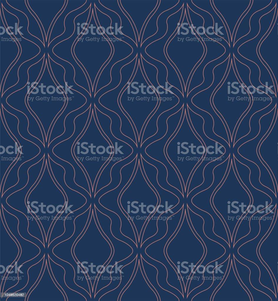 Classic Art Deco Seamless Pattern Geometric Stylish Ornament Vector