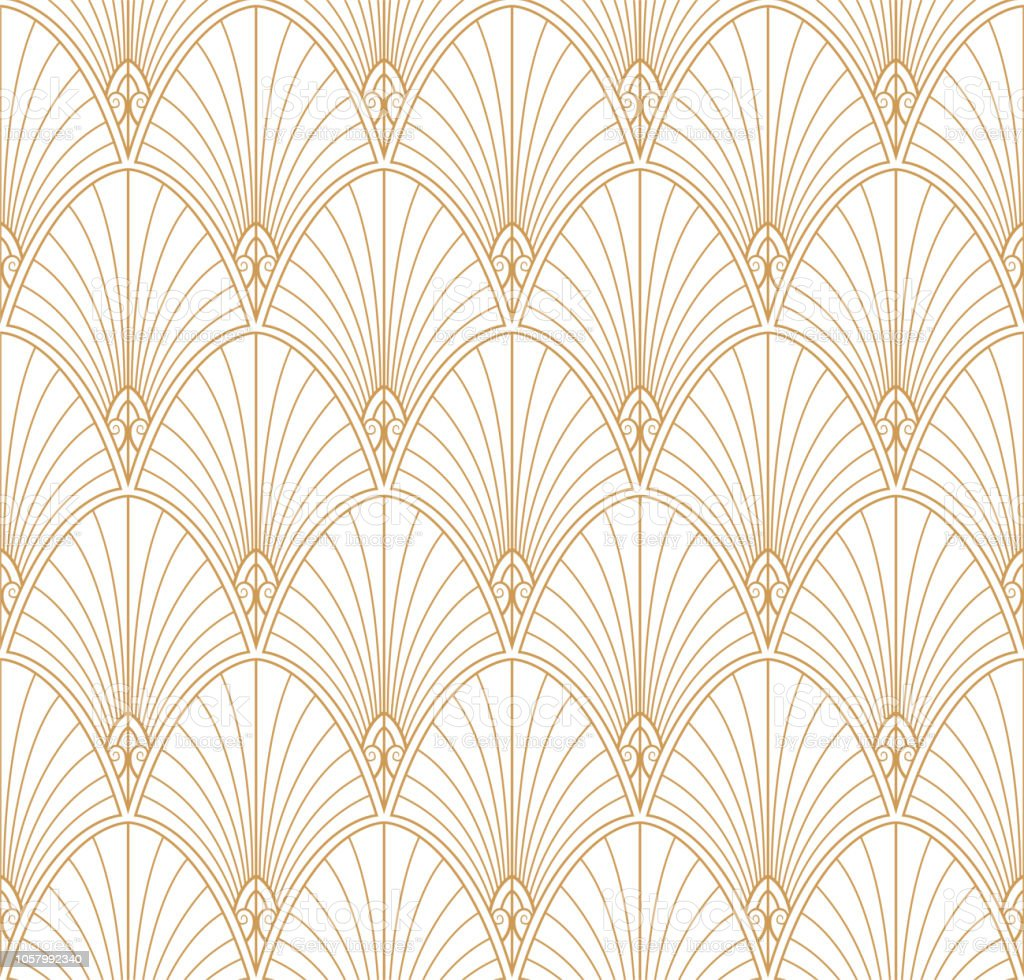 Classic art deco seamless pattern. Geometric stylish ornament. Vector antique texture.