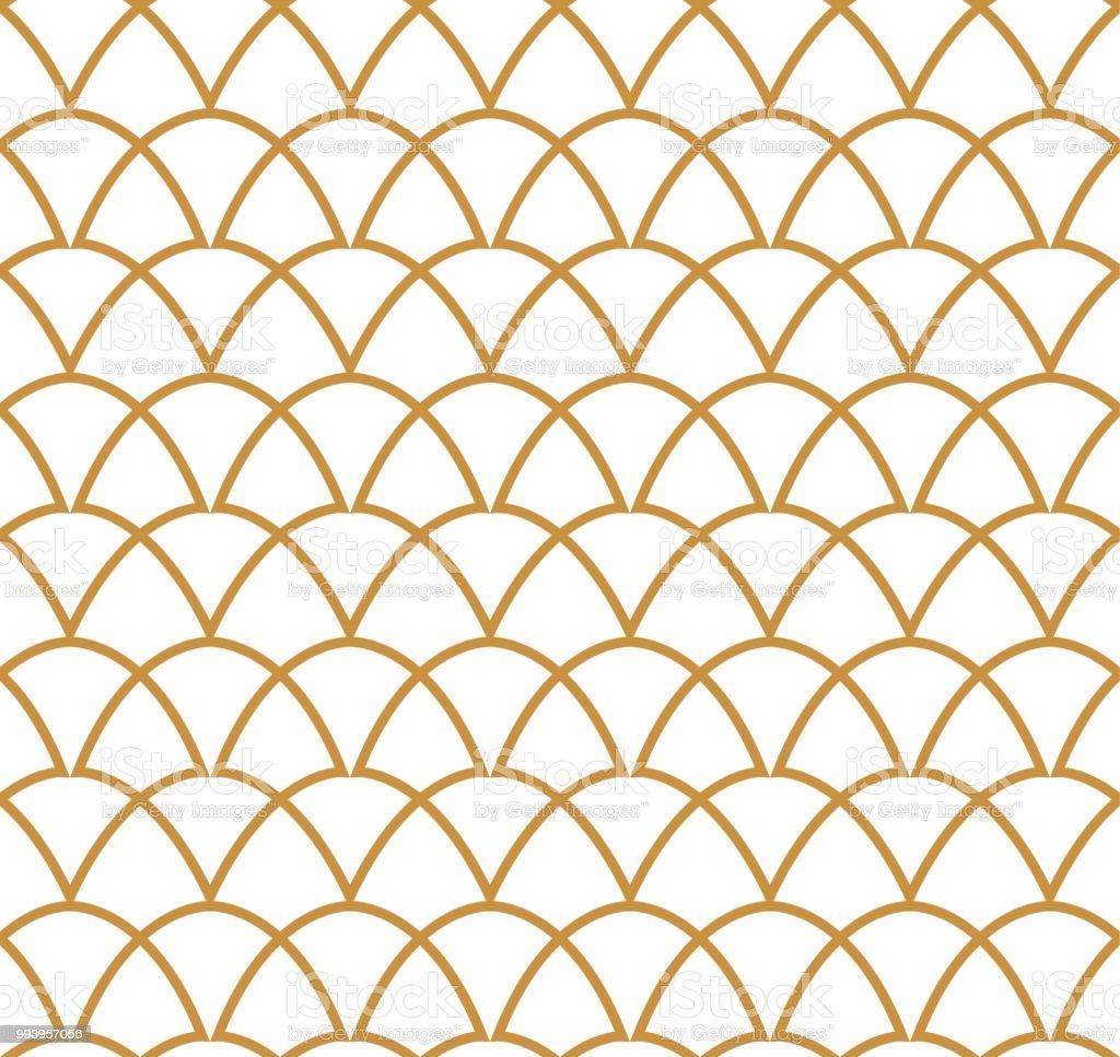 Padrão sem emenda clássico Art Deco. Geométrica textura elegante. Textura abstrata Vector retrô. - ilustração de arte em vetor