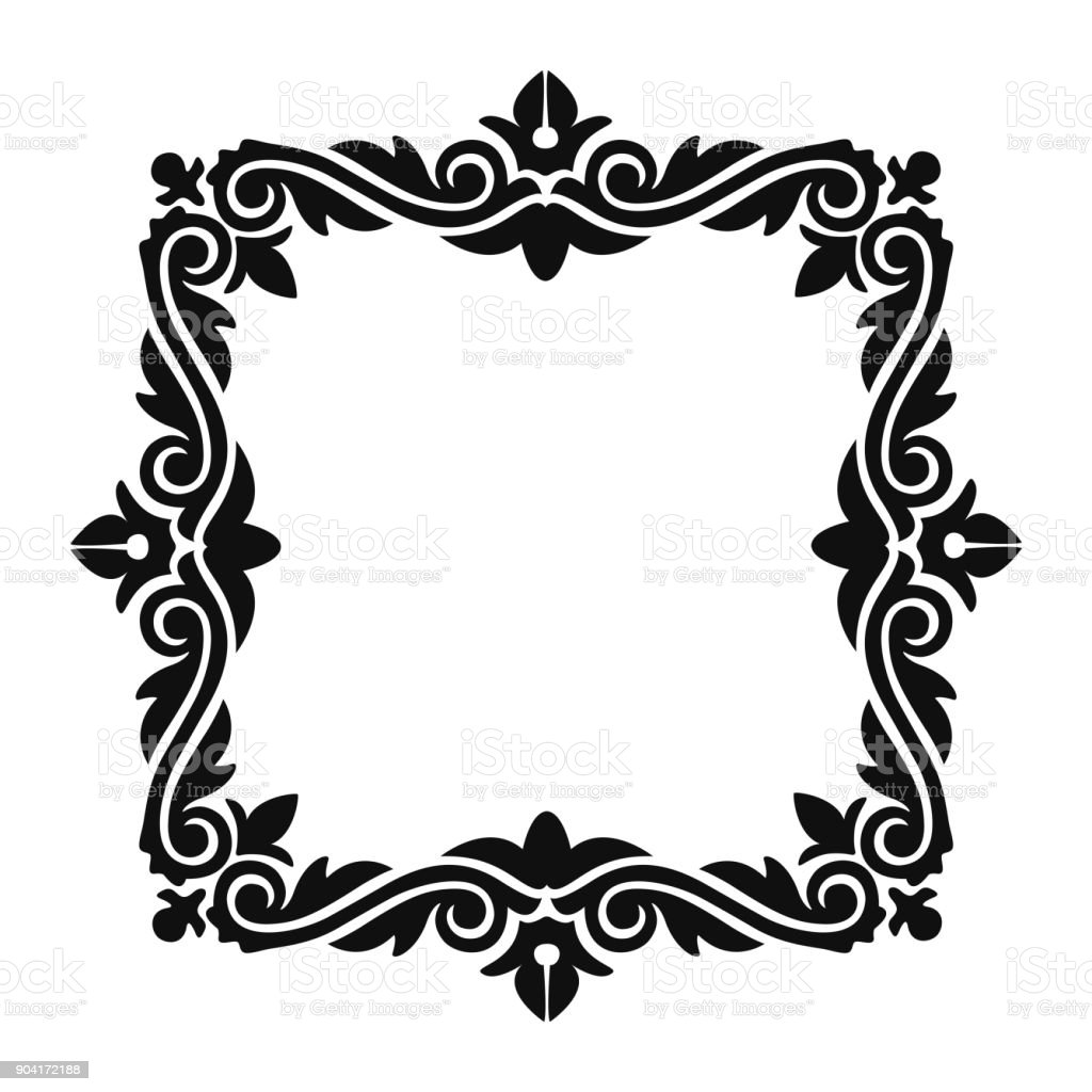 Classic Baroque Style Frame Or Classicism Graphic Outline For Your ...