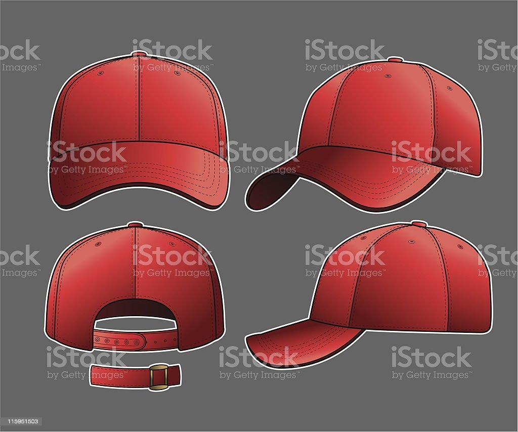 Classic Baseball Cap royalty-free stock vector art