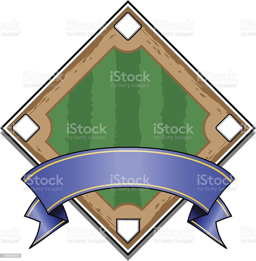 Classic Baseball Diamond royalty-free stock vector art