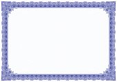 Classic blue border with outline style
