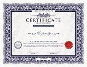 Classic blue certificate template