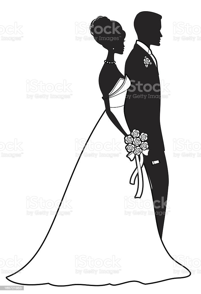 Classic Bride and Groom A black and white bride and groom. Click below for more marriage and love images. Adult stock vector