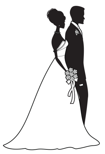 Classic Bride And Groom Stock Illustration - Download Image Now