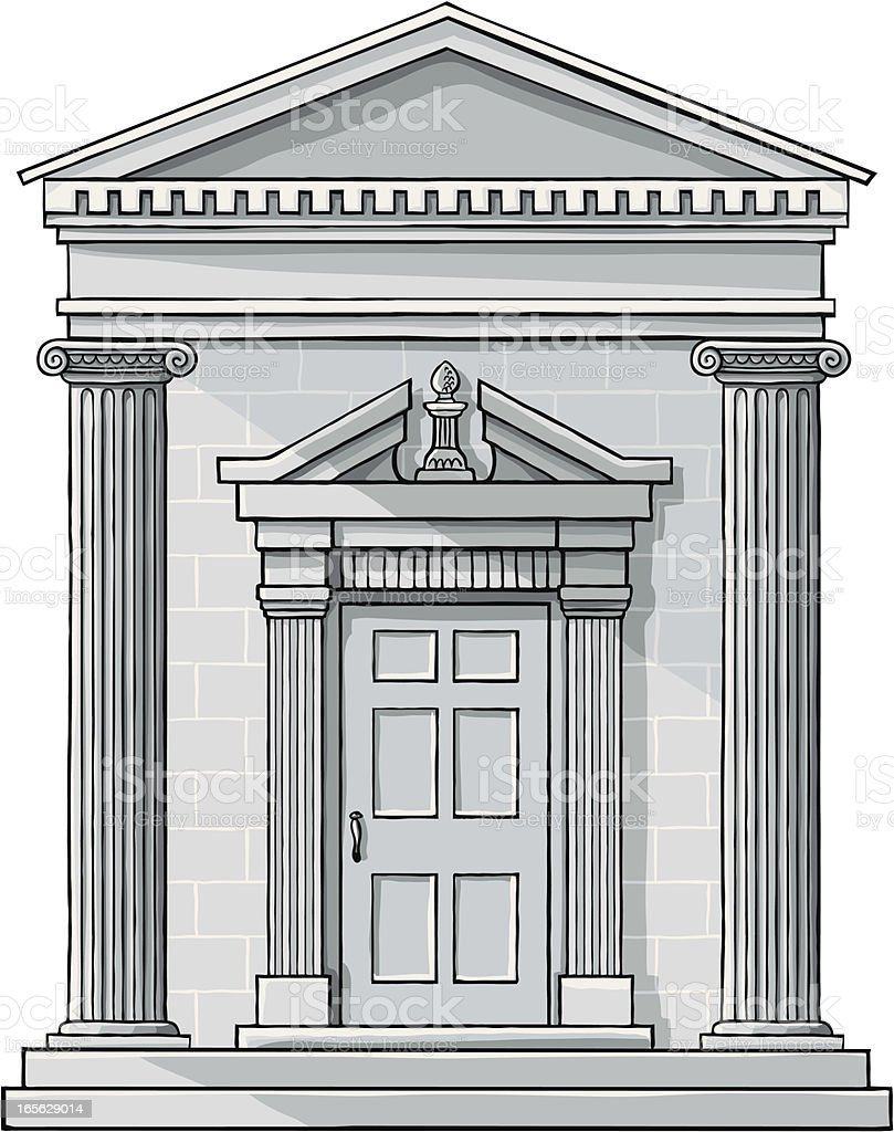 Classic Building Facade royalty-free classic building facade stock vector art & more images of antiquities