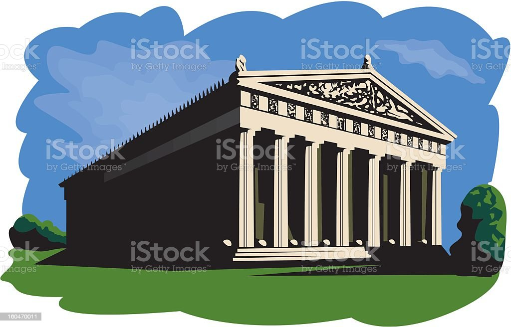 Classic Building royalty-free stock vector art