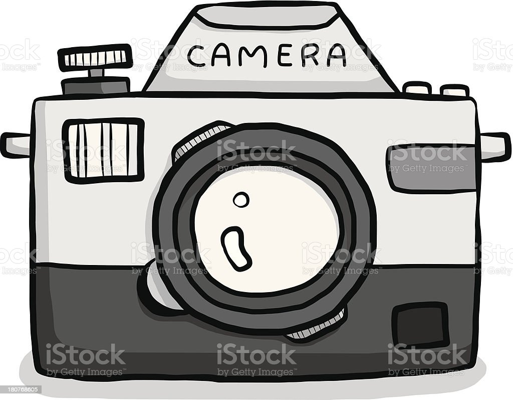 classic camera cartoon royalty-free stock vector art