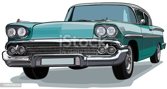 Collector's car in vector