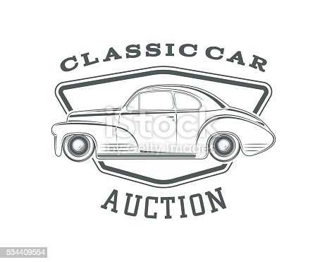 Classic Car Auction Badge Template Stock Vector Art & More