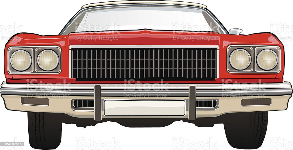 Classic car. Chevrolet. vector art illustration