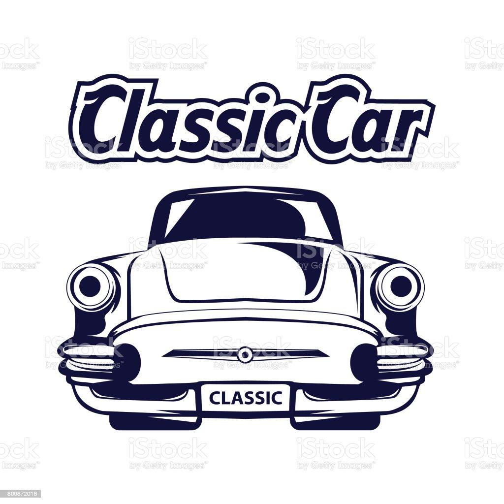 classic car design template stock vector art more images of art rh istockphoto com classic car vector graphics classic car vector art