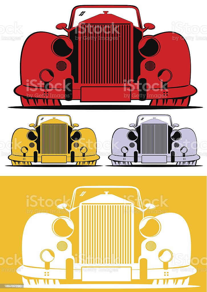 Classic car front view royalty-free classic car front view stock vector art & more images of 1930-1939