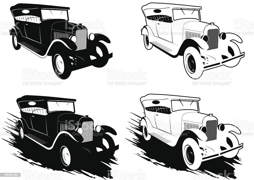 Classic car royalty-free stock vector art