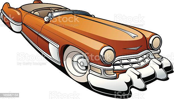 Classic Car Stock Illustration - Download Image Now