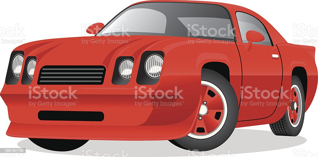 Classic Cartoon Sports Coupe royalty-free stock vector art