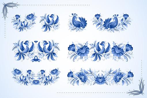 Classic ceramic ornament birds
