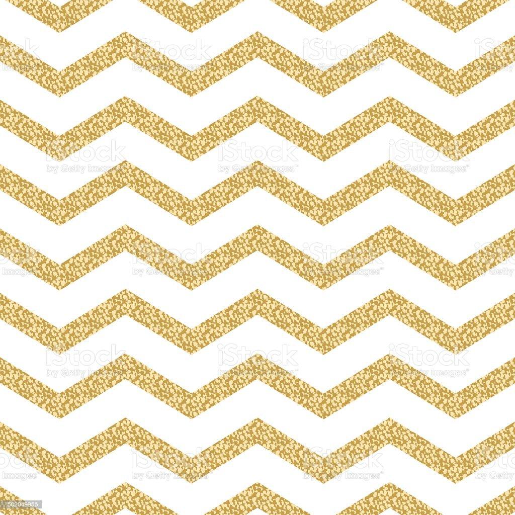 Classic chevron stripe glitter shimmer seamless vector pattern vector art illustration