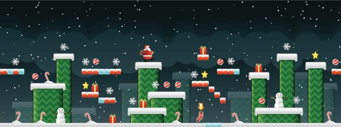 Classic Christmas Arcade game