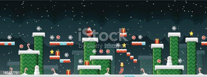 istock Classic Christmas Arcade game 185437751