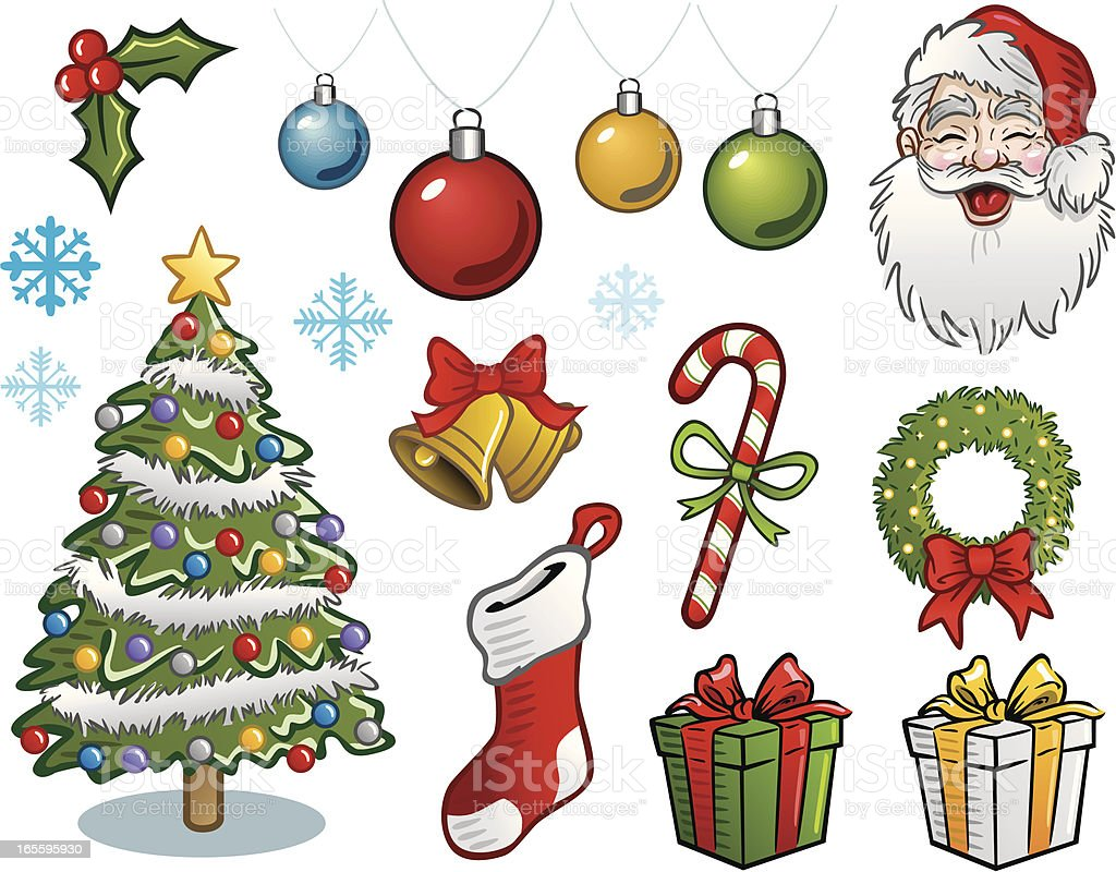 Classic Christmas Elements royalty-free classic christmas elements stock vector art & more images of bell