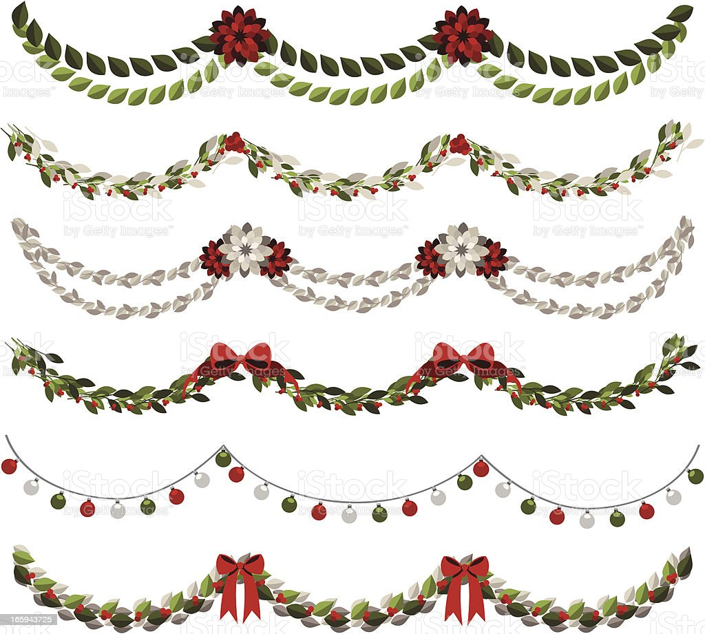 Classic Christmas Garlands Stock Illustration - Download ...