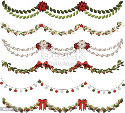 istock Classic Christmas Garlands 165943725