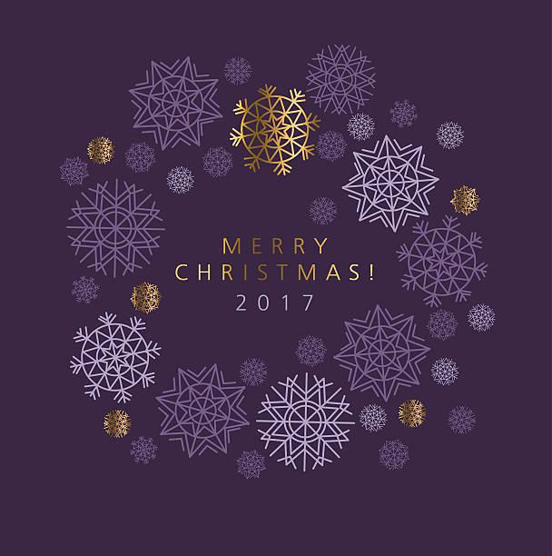 classic christmas snowflakes elegant card or header. - ferien und feiertage stock-grafiken, -clipart, -cartoons und -symbole
