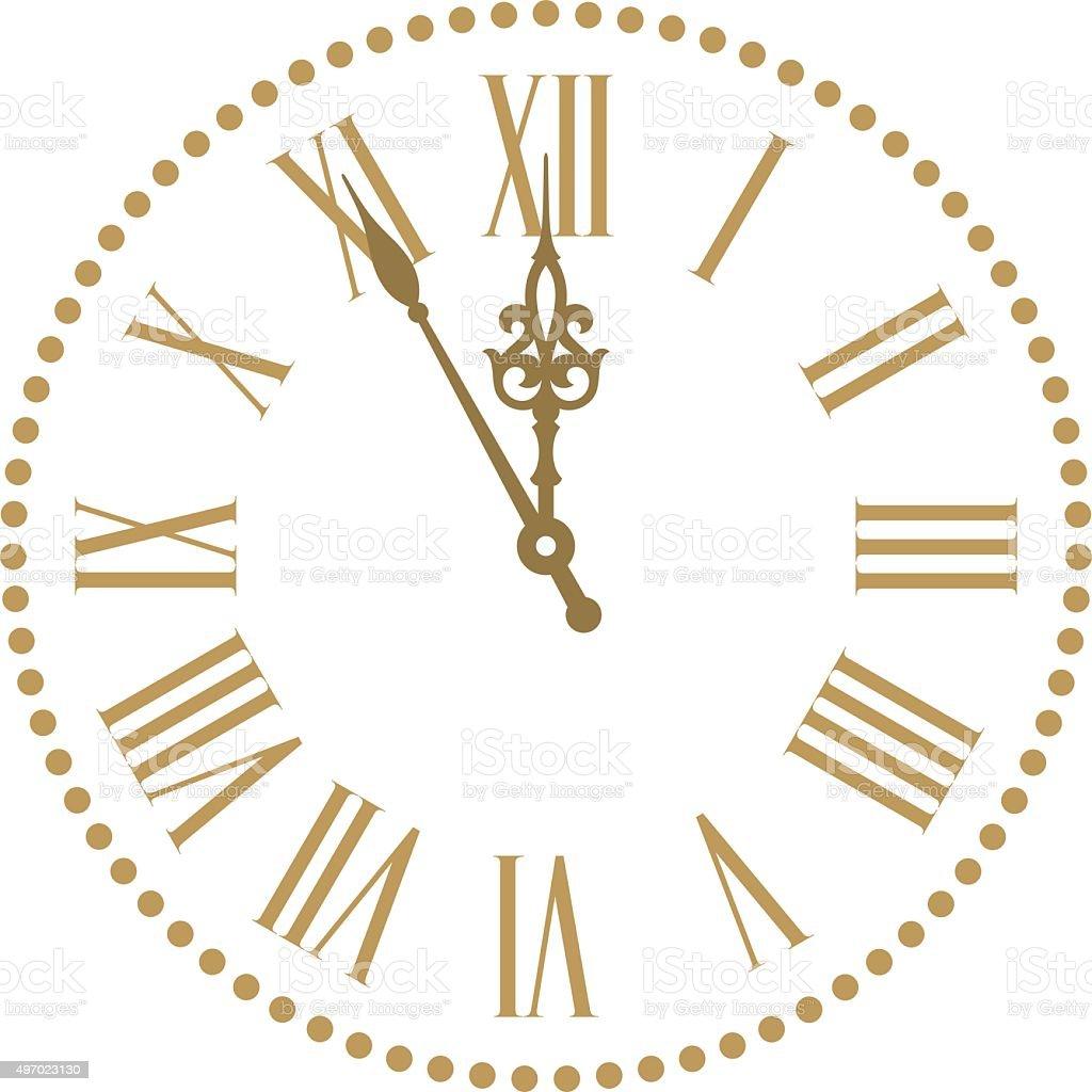Classic clock vector art illustration
