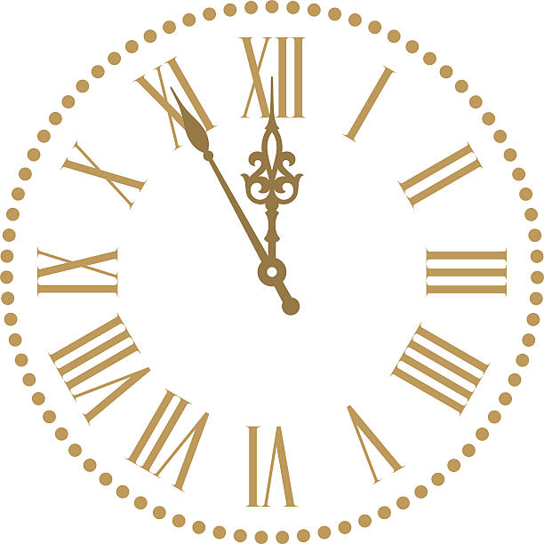classic clock - clock face stock illustrations, clip art, cartoons, & icons