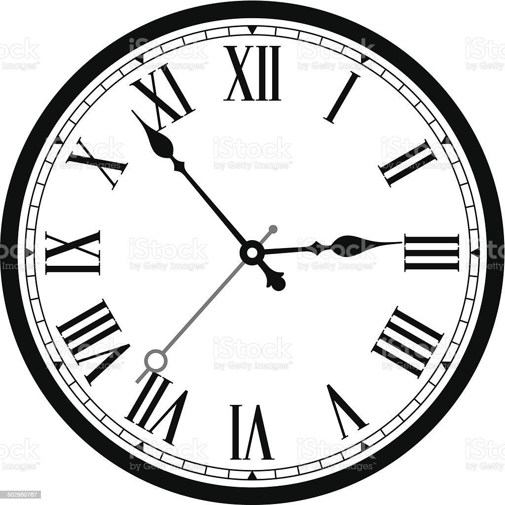 Classic Clock Stock Vector Art & More Images Of 3 O'Clock